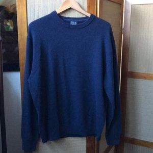 NWT JOS.A.BANK NAVY WOOL BLEND SWEATER SIZE L